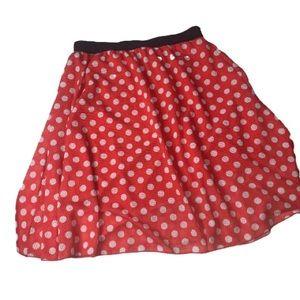 LuLaRoe Lola Skirt Minnie Mouse 2xl